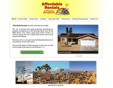 Affordable Rentals website