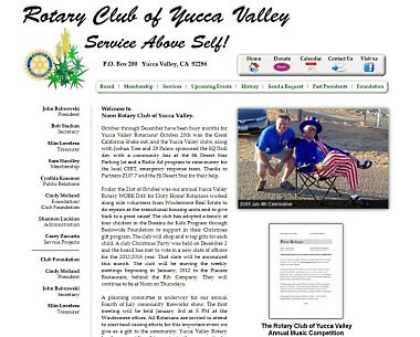 Rotary Club of Yucca Valley website