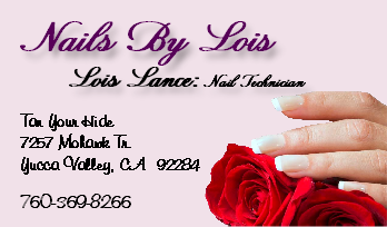Nails By Lois business card thumbnail
